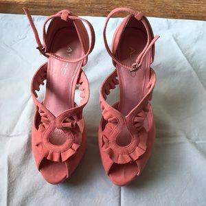 Peach Heels.